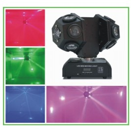 EFECTO LED GIRATORIO DOBLE TAMBOR 12x10W RGBW 4 IN 1